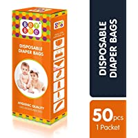 Bey Bee - Baby Diaper Disposable Bags | Napkin Disposal Sacks for New Born Babies Items, One Pack Offers with 50 Bags