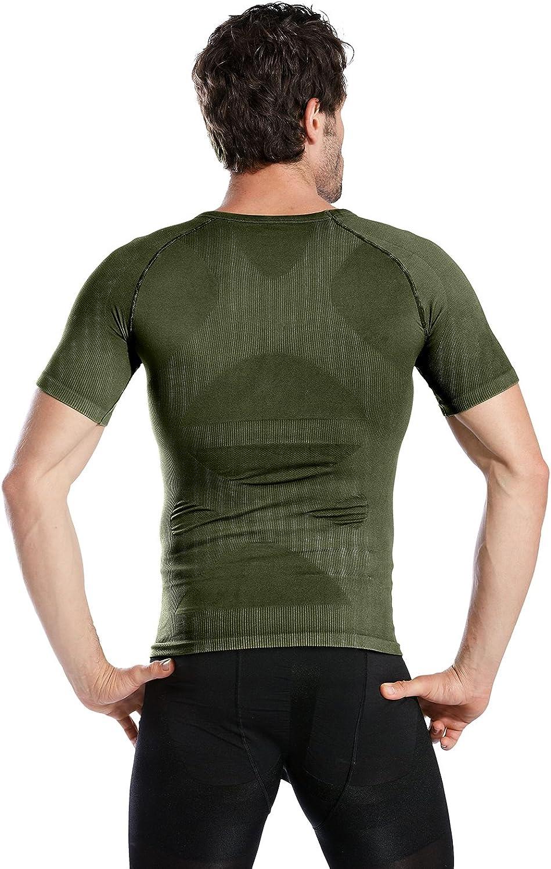 Hoter Mens Slim and Tight Super Soft Compression /& Slimming Shaper V-Neck Compression Shirt /…