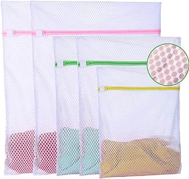 Amazon.com: 5 bolsas de lavandería resistentes de malla para ...