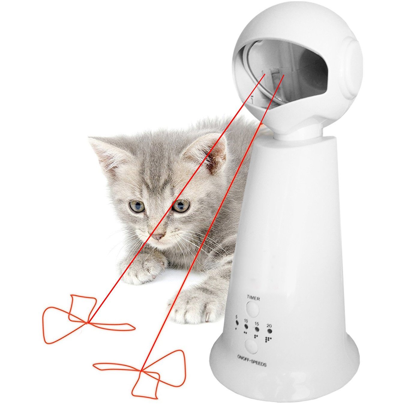 Automatic Rotating Laser Pet Cat Toy - Interactive, Fun For Cats & Dogs - Exercise Entertainment Training Tool 360º Training Pointer
