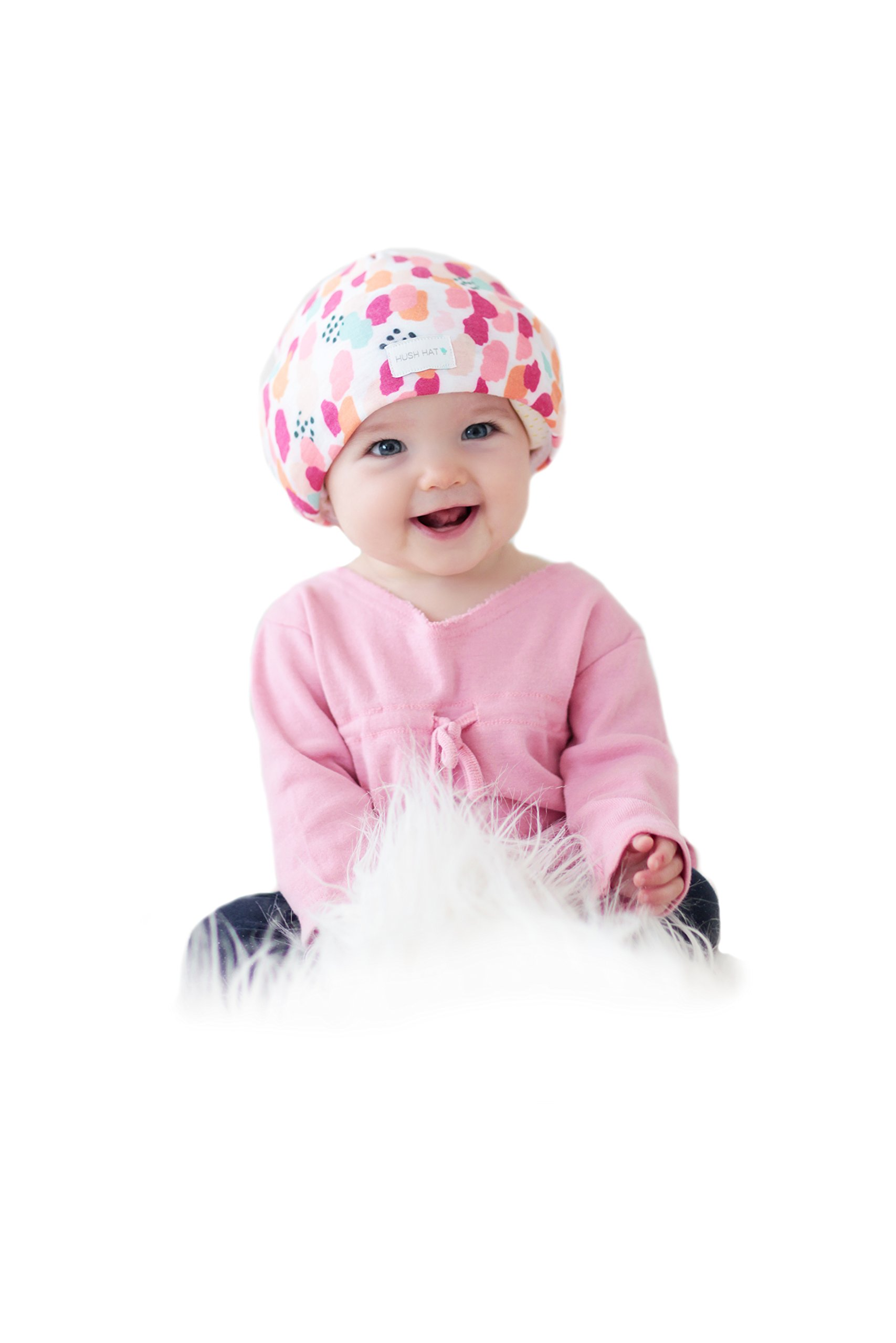 Hush Baby Hat with SoftSound Technology and Medical Grade Sound Absorbing Foam, Sherbet, Medium by HUSH Baby