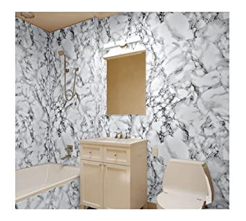 7buy just peel and stick 24x195 faux marble stone wallpaper vinyl wallcovering waterproof