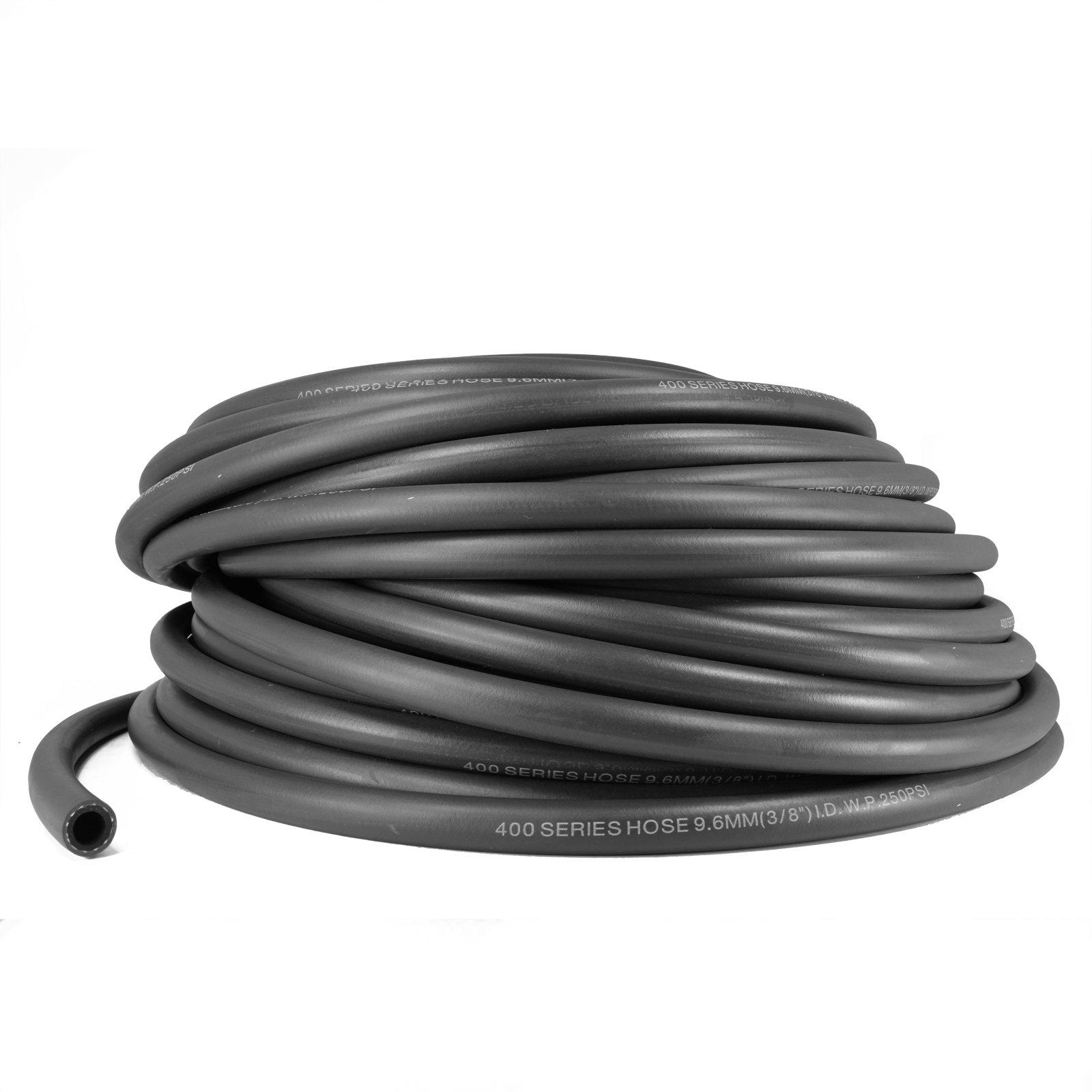 Kraken Automotive - 12AN Black Push Lock Hose for Fuel Oil Coolant Air 3/4'' (20 Feet)