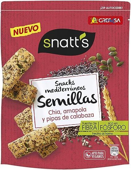 Grefusa Pan Especial Horneado con Semillas de Calabaza, Amapola y Chía, 85g, Pack de 1: Amazon.es: Alimentación y bebidas