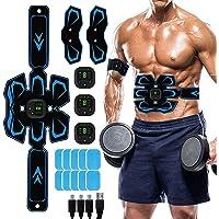 MATEHOM Electroestimulador Muscular Abdominales, Masajeador Eléctrico Cinturón con USB, Estimulación Muscular Masajeador…