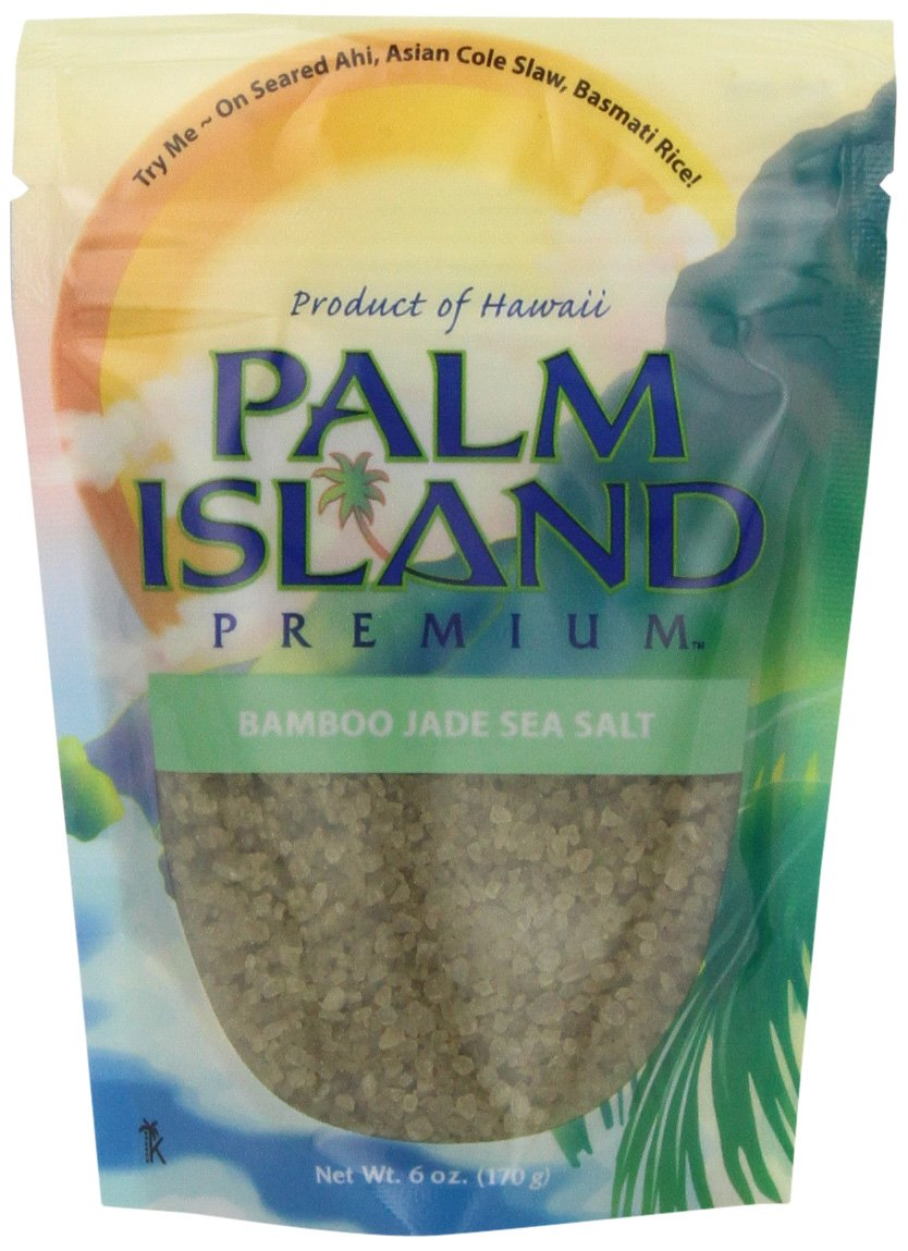 Palm Island Premium Bamboo Jade Sea Salt, 4-Ounce Pouch (Pack of 6) by Palm Island Premium