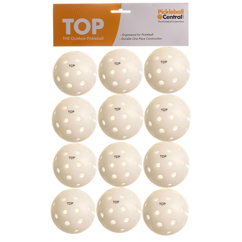 TOP ball (The Outdoor Pickleball), Baker's Dozen (13 balls) WHITE PickleballCentral