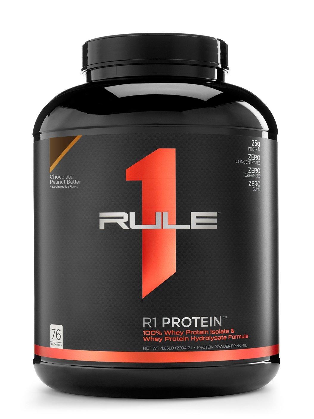 R1 Protein Whey Isolate/Hydrolysate, Rule 1 Proteins (76 Servings, Chocolate Peanut Butter)