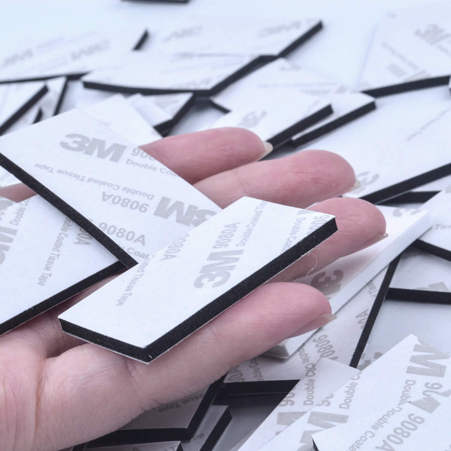 50/pezzi doppia faccia cuscinetti adesivi nero nastro biadesivo 3/m adesivo schiuma Pad rettangolare