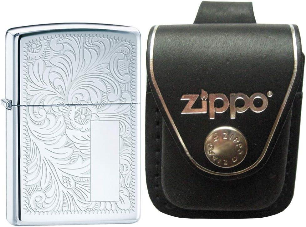 Zippo 352 veneciano alta Polaco Cromo inicial Panel resistente al ...
