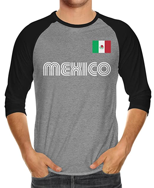 553737fc2 Amazon.com  SpiritForged Apparel Mexico Soccer Jersey Unisex 3 4 Raglan  Shirt  Clothing