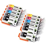 JARBO Compatible Ink Cartridge Replacement for Canon PGI-225XL CLI-226XL 11 Packs(3 PGBK 2 Black 2 Cyan 2 Magenta 2 Yellow) Used in Canon PIXMA MX892 MX882 MG5220 IP4820 IX6520 MG5320 MG6220 MG8220