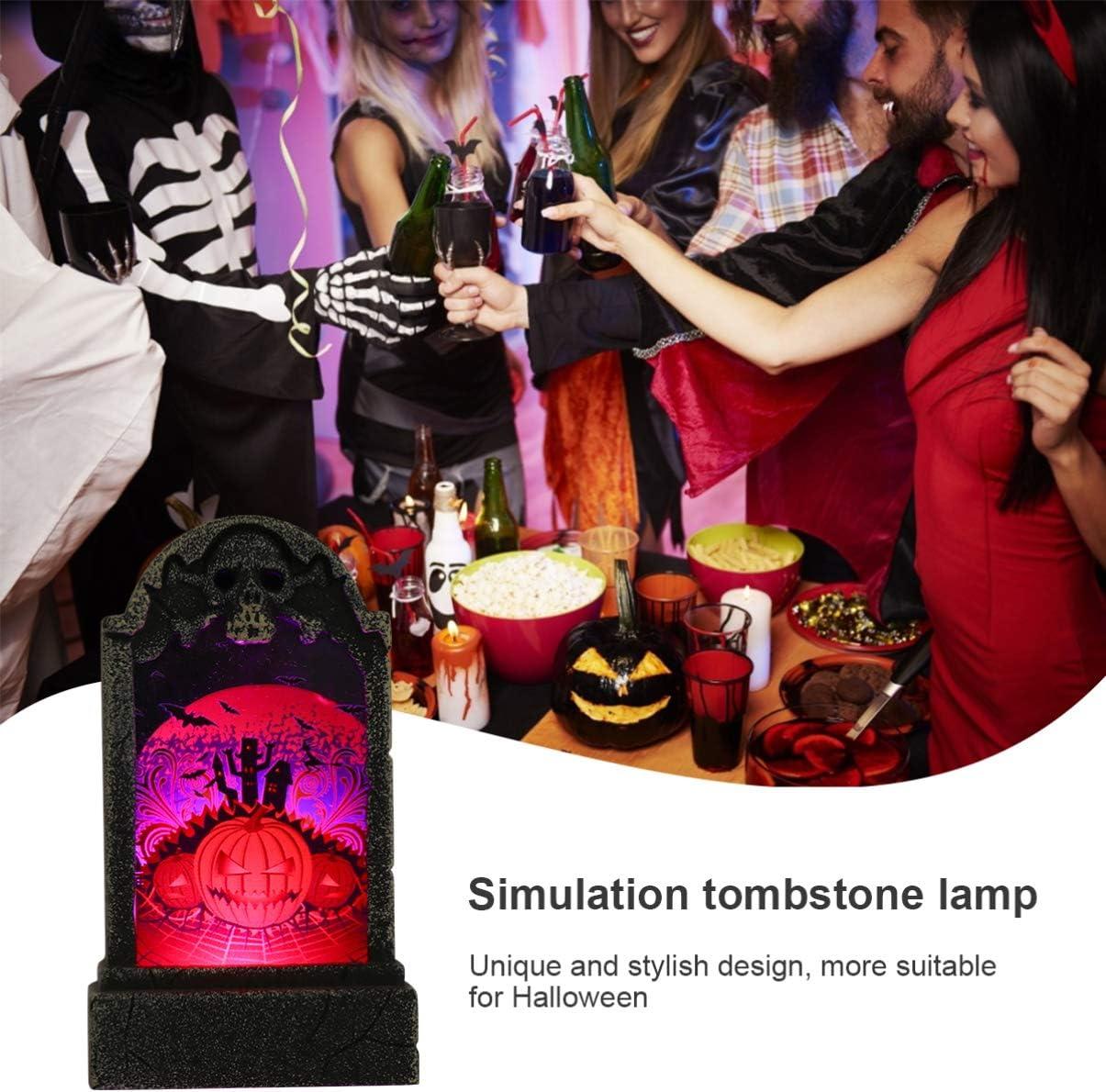 Tomaibaby D/écoration de Pierre Tombale Conception de Pierre Tombale Lampe de Nuit Veilleuse D/écoration de F/ête Accessoires pour F/ête Festival Halloween