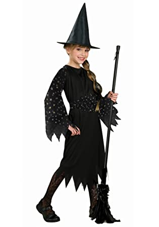 Amazon.com: Halloween Concepts Child's Witch Costume with Flocked ...
