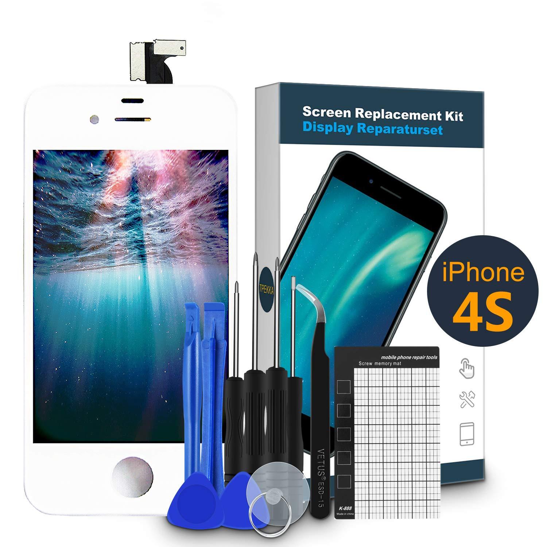 TPEKKA Reemplazo de Pantalla para iPhone 4S Pantalla LCD Touch ...