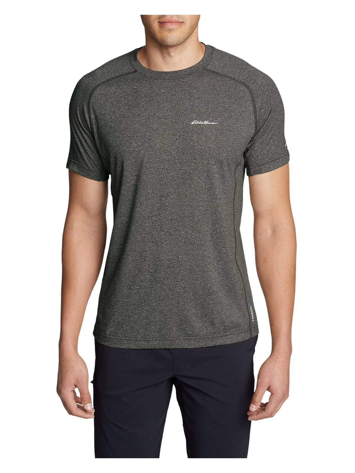 Eddie Bauer Men's Resolution Short-Sleeve T-Shirt, HTR Brown Regular S