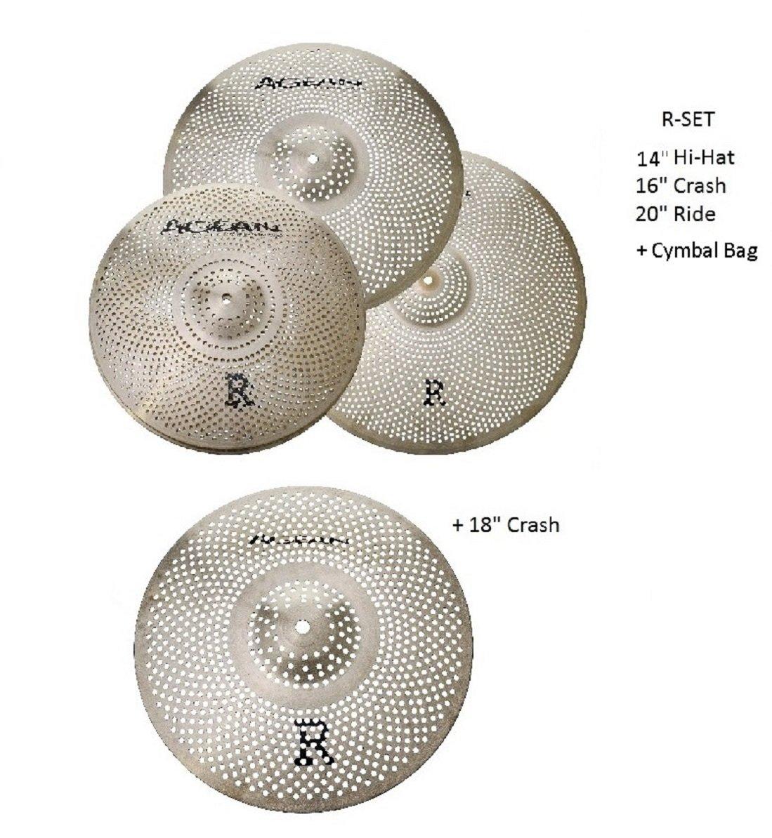 代引き人気 Agean Box Cymbals Silent R-Series Low Low Volume Cymbal Pack Box Agean Set+18 Crash B07D4RLWXX, ecoloco(エコロコ):6017005c --- arianechie.dominiotemporario.com