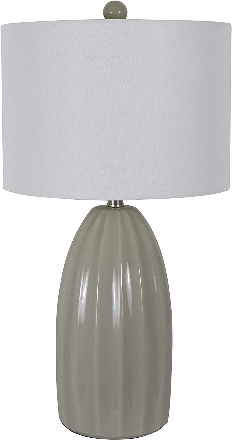 Decor Therapy TL17304 Table Lamp, Cool Gray Crackle