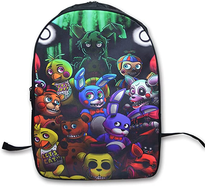 FNAF Five Nights at Freddy's Printing Backpack School Bags
