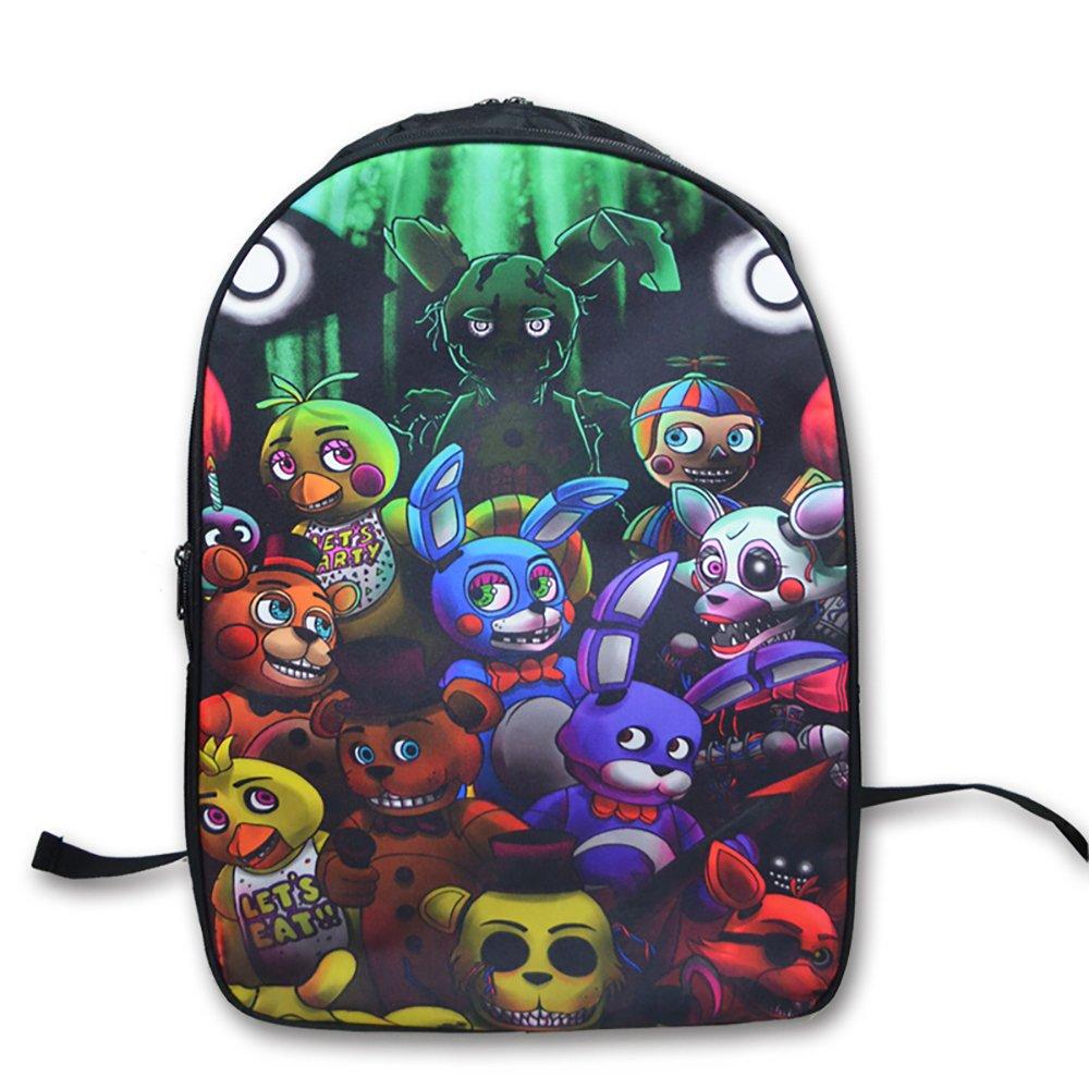 FNAF Five Nights at Freddy's Printing Backpack School Bags Teens Kids Boys Girls Freddy School Bag Womens Mens Laptop Backpacks