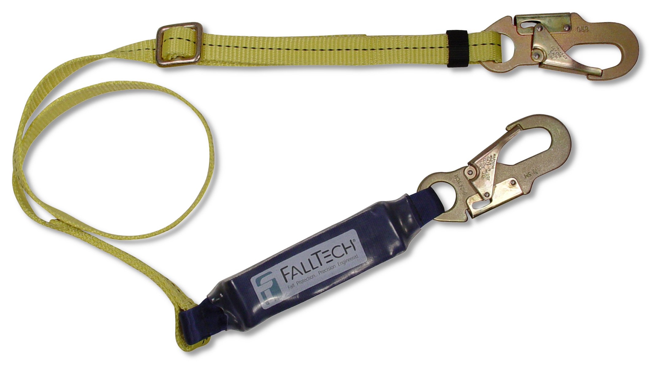FallTech 8257 ClearPack Adjustable 4.5-to-6-Foot Shock Absorbing Lanyard