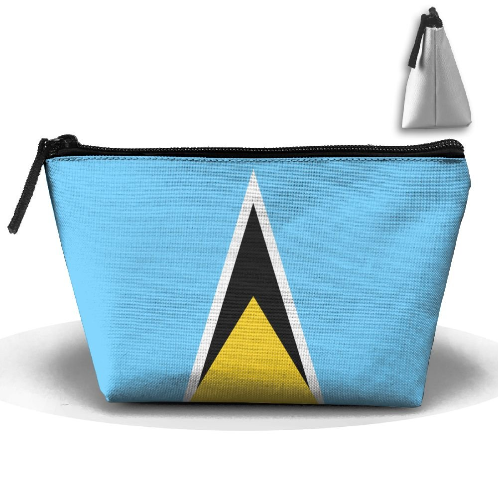 good Chion Flag Of Saint Lucia Hand Bag Pouch Portable Storage Bag Clutch Handbag