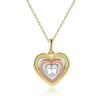 Vinjewelry Queen of Heart Rose Gold Plated Pendent Crown Design 5A Zircon Gift for Women ipEVWTm