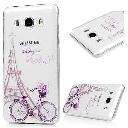 BADALink Funda para Samsung Galaxy J7 2016 Silicona TPU, Carcasa Suave Transparente para Samsung Galaxy J7 2016 Protective Case Cover Resistente al ...