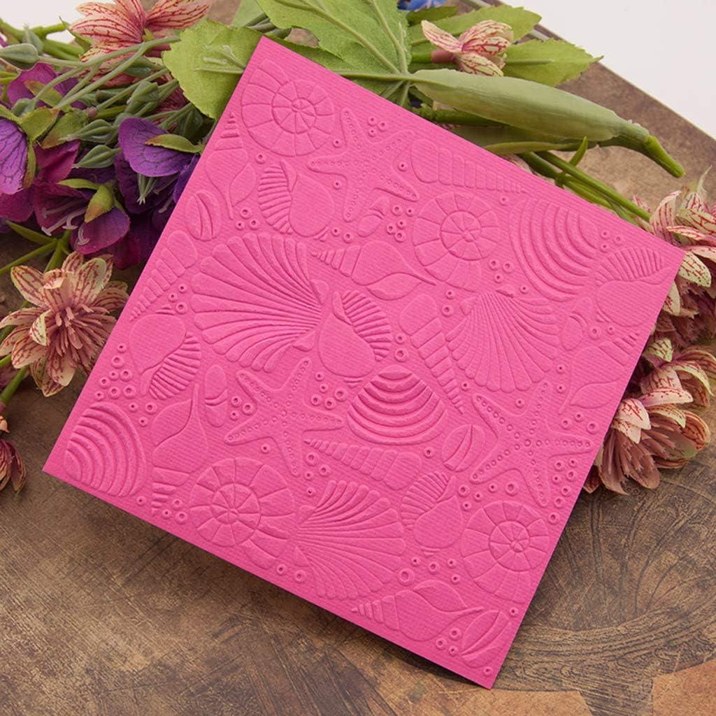 LEJIA Plastic Embossing Folder Stencils Template Molds DIY Scrapbooking Paper Photo Album Card Decoration Starfish
