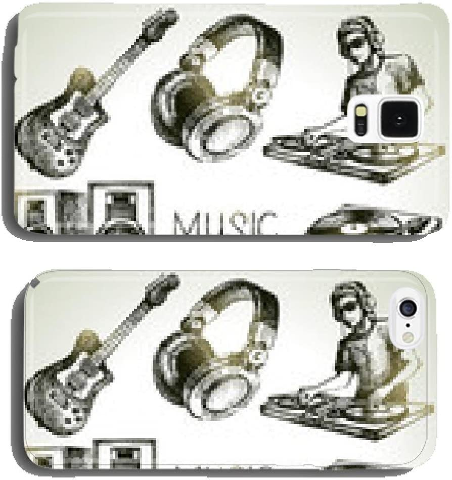 Sketch music set. Hand drawn vector illustrations of Dj icons cell ...