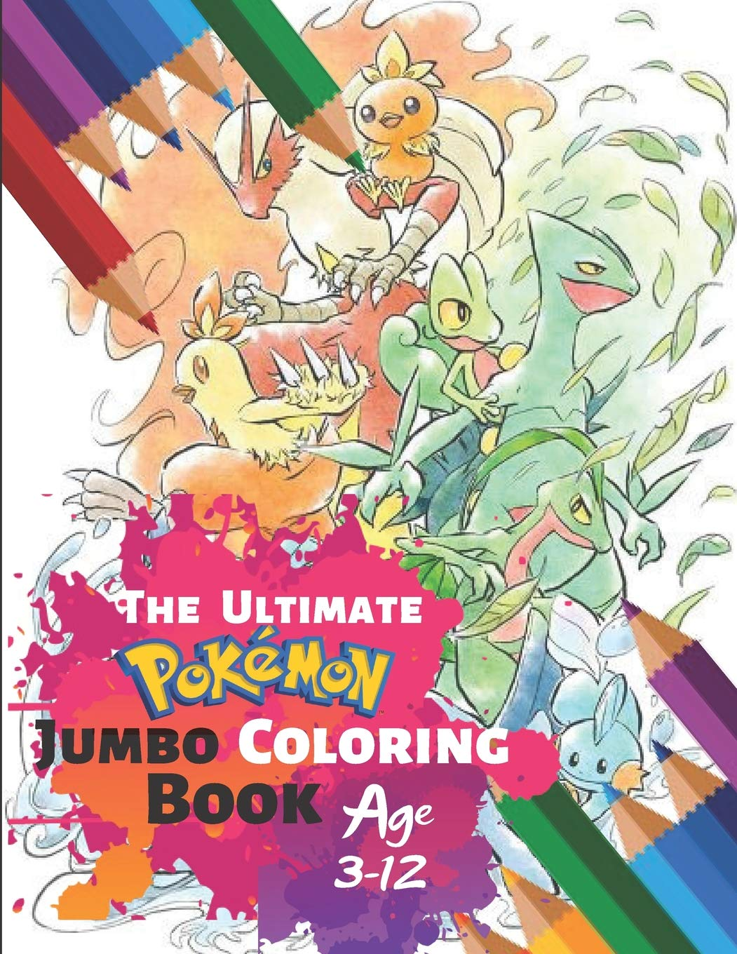 The Ultimate Pokemon Jumbo Coloring Book Age 3 12 Awesome
