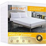 King Mattress Protector Premium 100% Waterproof Hypoallergic & Breathable, Vinyl Free, Quilted Mattress Cover Cotton Terry Surface Machine Washable,15 year Warranty SOFTCARE