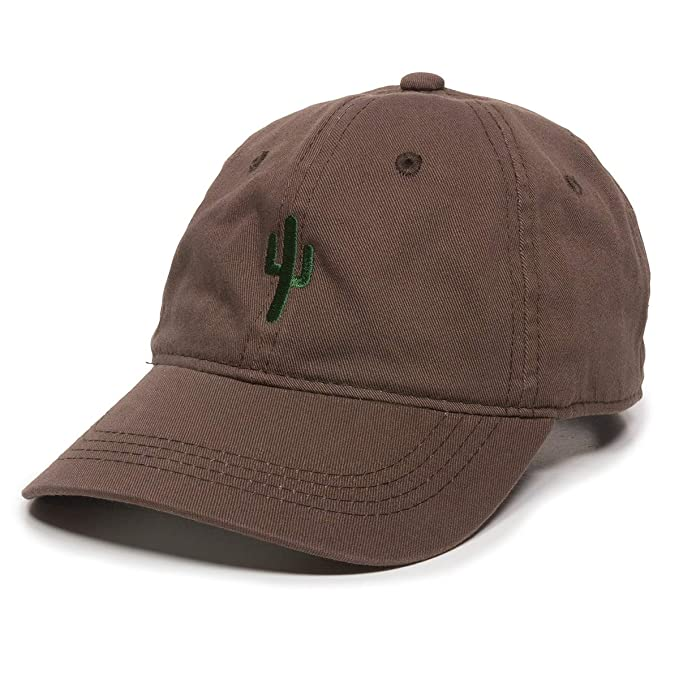 294223bc5b13f Image Unavailable. Image not available for. Color  Cactus Embroidered Dad  Hat - Adjustable Polo Style Baseball Cap ...