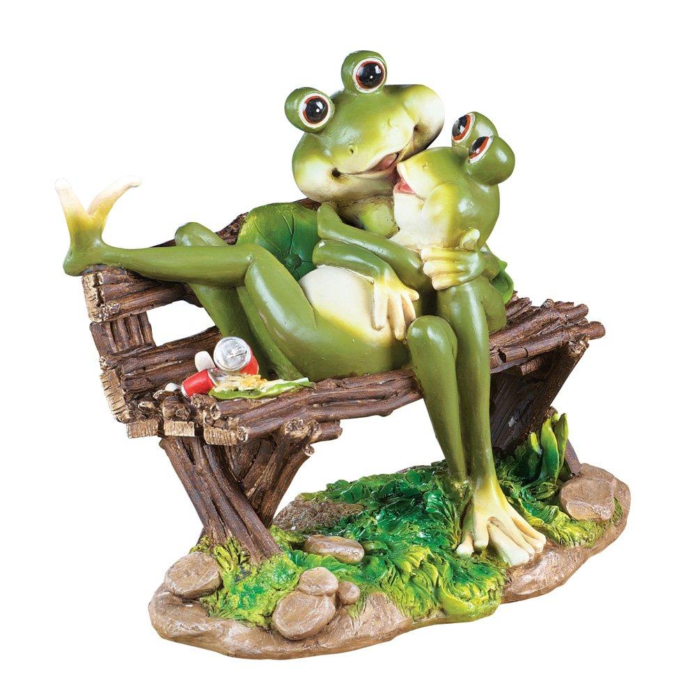 Collections Etc Frogs Romantic Evening Garden Figurine