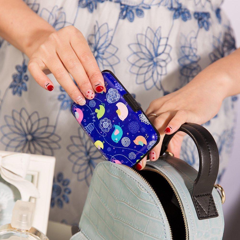 porte-cartes daffaires joli et mince en m/étal Color 20 porte-monnaie en aluminium Porte-cartes de cr/édit Sookoo en aluminium bloquant les signaux RFID pour les hommes et les femmes