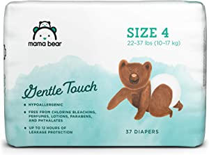 Amazon Brand - Mama Bear Gentle Touch Diapers, Hypoallergenic, Size 4, 37 Count