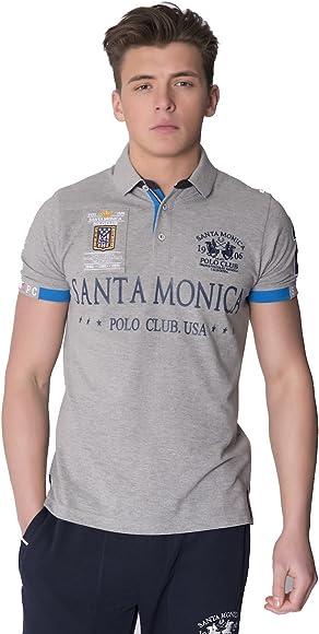 Santa Monica Polo Club - Camisa casual - para hombre Gris Ash Grey ...