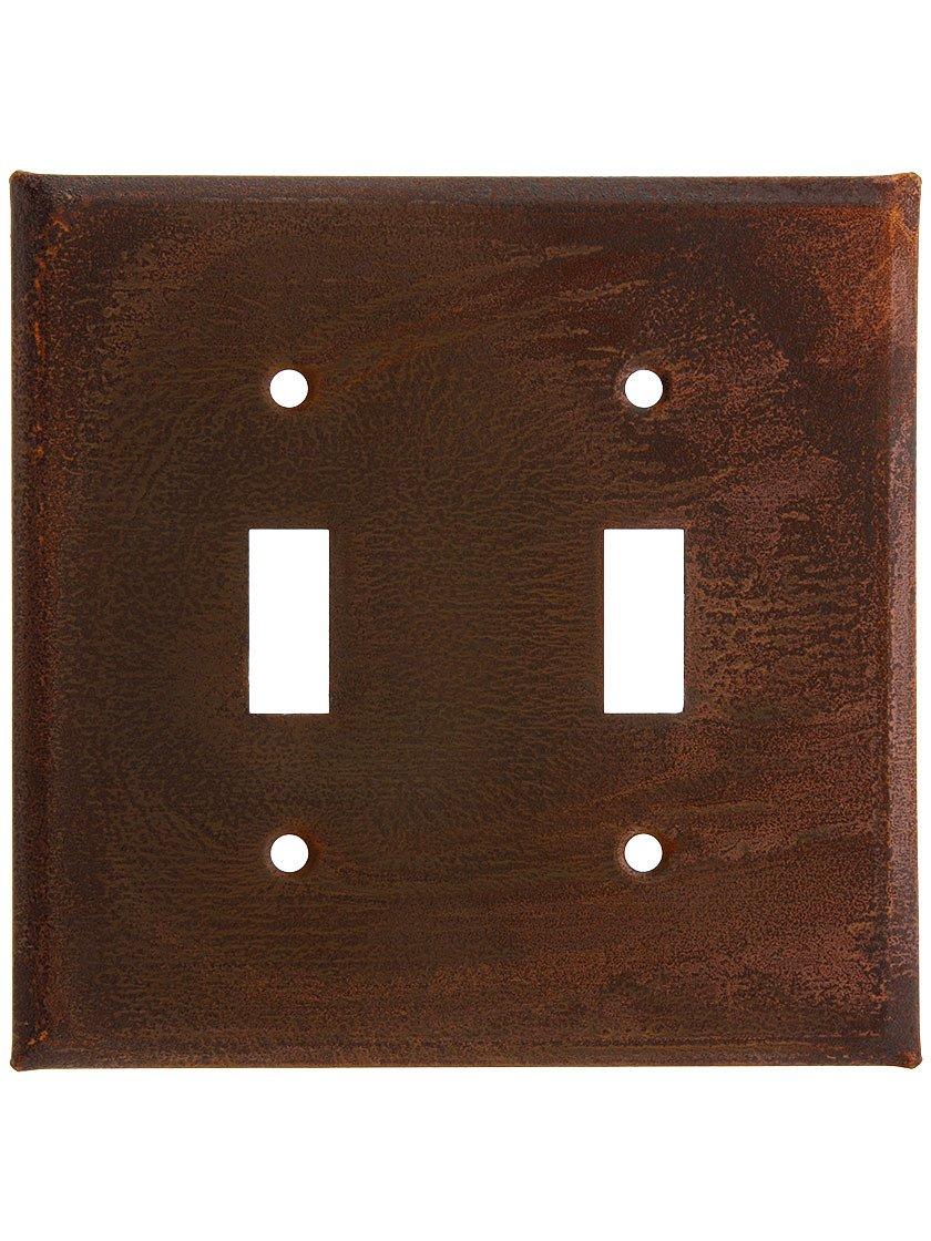 国Tin Double Toggle Switch Plate with Rustまたはアンティーク仕上げ 379DSRT  Rustic Tin B01CUH8RU0