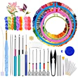 Jupean Embroidery Punch Needle, 156 Pcs Punch Needle Tool with Needle Punch, 110 Pcs Embroidery Thread, Embroidery Hoops, Embroidery Needles, Punch Needle Kit for Beginners (Tamaño: 156 Pcs)