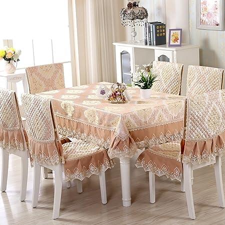 paño/mantel de jardín/Juego de sillas de comedor cojín/mantel/Cojín/mantel/Set de cubre sillas manteles-L 150x150cm(59x59inch): Amazon.es: Hogar