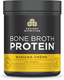 Ancient Nutrition Bone Broth Protein Powder, Banana Crème Flavor, 20 Servings Size