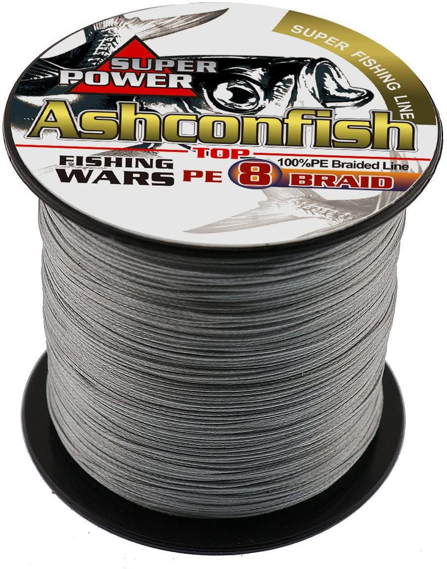 Ashconfish Braided Fishing Line-8 Strands Super Strong PE Fishing Wire 500M 546Yards Multifilament Fishing String Ultra Power Heavy Tensile for Saltwater Freshwater Fishing