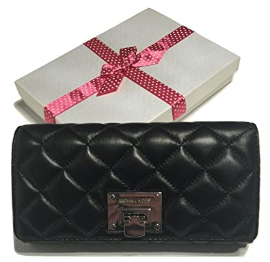 920400d89e2e Amazon.com: Michael Kors Astrid Carryall Clutch Wallet Quilted Black Leather  with Bagity Gift Box: Shoes