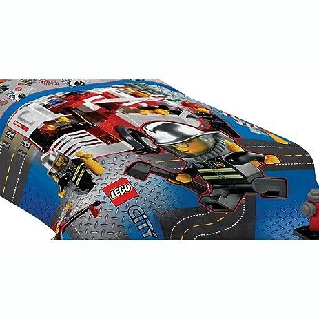 Amazon.com: Lego Twin Bed Comforter Lego City Build Bedding: Home ...