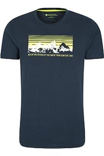 Mountain Warehouse Camiseta de Manga Corta Northern Lights II para Hombre - Ligera, Transpirable, protección UV y Cuidado fácil - Ideal para Gimnasio y Deportes Negro 4XL: Amazon.es: Ropa y accesorios