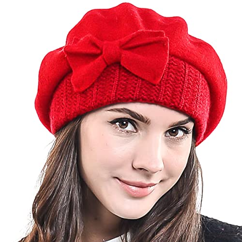 Lady French Beret Wool Beret Chic Beanie Winter Hat Jf-br034