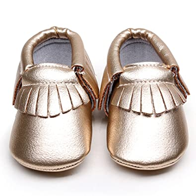 Baby Shoes 6 Months EQUICK Baby Moccasins Tassel Soft Non-slip Crib Shoes First Walker Infant Toddlers Sandal Black Friday