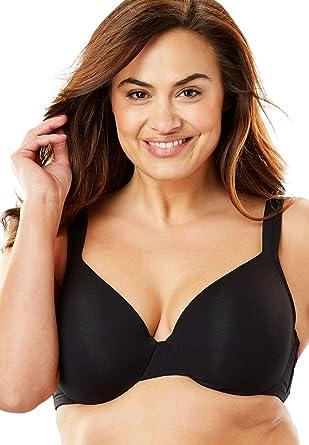 0dffcbcf771 Comfort Choice Women s Plus Size Cotton Underwire T-Shirt Bra - Black