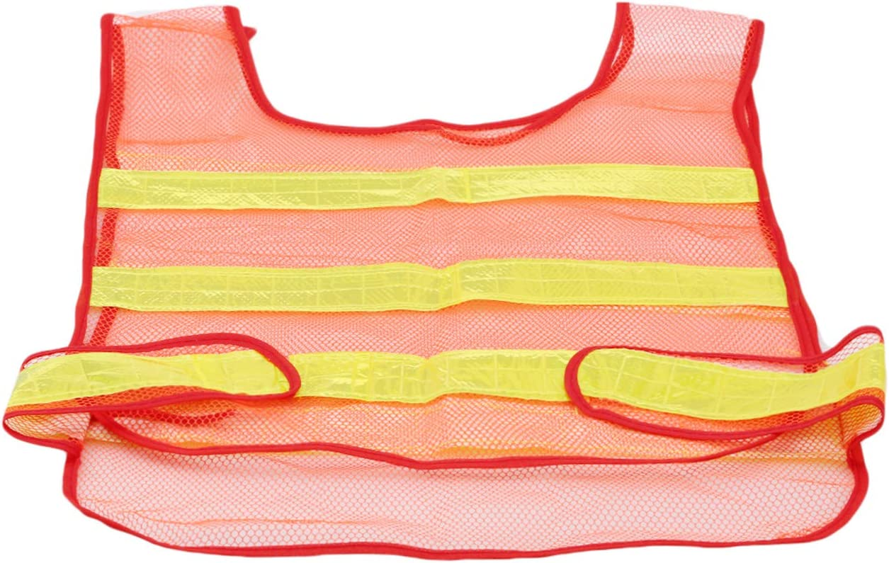 Style 1 Bigsweety Safety Vest Bright Visibility with Reflective Strips Safe Working Clothing for Emergency Car Tire Repair Automotive
