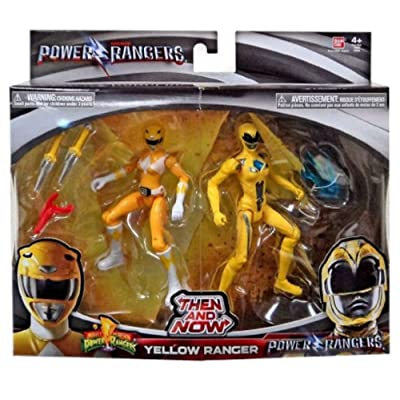 Power Rangers Movie Then and Now Yellow Ranger Action Figure Set 5 Inches: Toys & Games